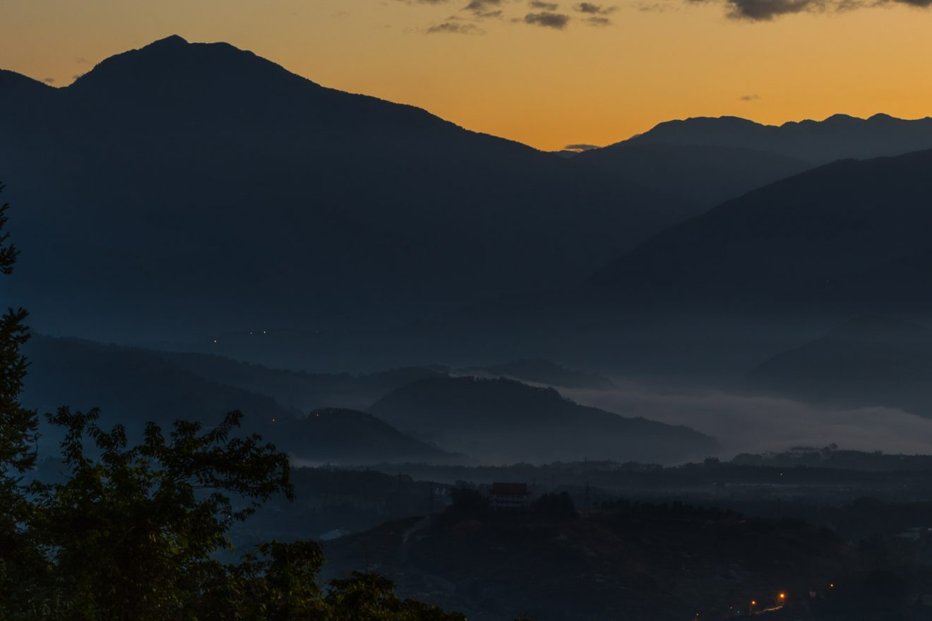 Sunrise at from the Peak of Maolanshan, Sun Moon Lake / Nantou County, Taiwan.