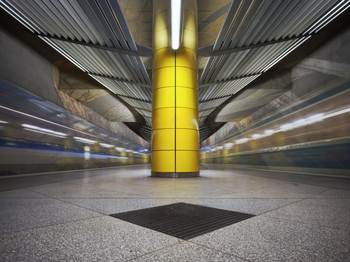 Some of Münchens (Munich's) subway station are unique in their beauty. Here: Großhadern.